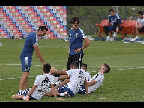 El primer entrenamiento de la Selección Argentina con Lionel Messi