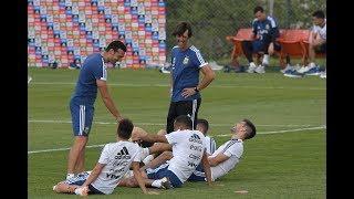 Entrenamiento de la Selección Argentina, en la previa de amistosos ante Venezuela y Marruecos