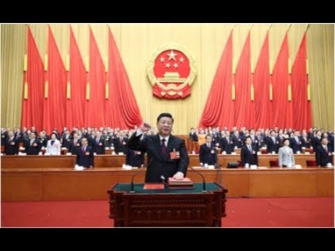 Chinese president Xi Jinping takes oath of allegiance to the Constitution