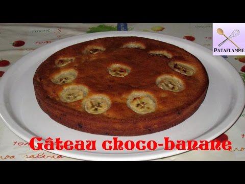 le-gâteau-à-la-banane-et-au-chocolat---banana-and-chocolate-cake