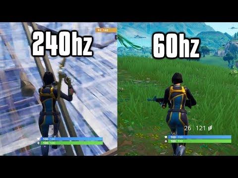 Playing Fortnite On 240Hz: Is It Worth It? - 240Hz Vs 144Hz Vs 60Hz Comparison