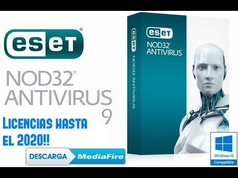 Serial de LICENCIAS para ESET NOD32 ANTIVIRUS 9 (HASTA EL 2020!!)  (Windows 10/8/8.1/7) - 2018 -