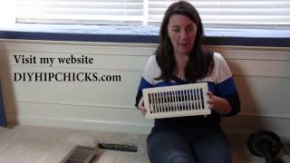 DIY TIP To Paint HVAC vent covers with Rust-Oleum