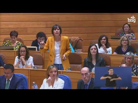 """Ana Pontón: """"Galiza ten problemas moi graves e non podemos seguir con este goberno de palla"""""""