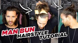 Man Bun Hairstyle Tut๐rial - Top Knot 2016 // Marc Eggers