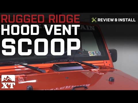 Jeep Wrangler Rugged Ridge Hood Vent Scoop (1998-2017 TJ & JK) Review & Install