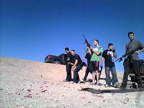 Shooting guns in El Paso Tx...