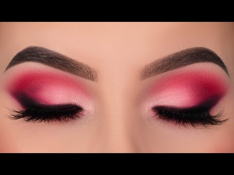 Valentine's Day Makeup Tutorial   Pink Smokey Eyes