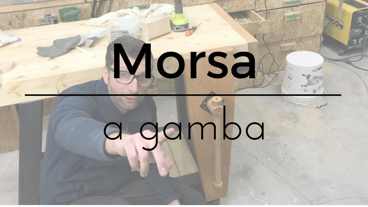 Fai da te morsa a gamba in legno e ferro youtube for Youtube fai da te legno