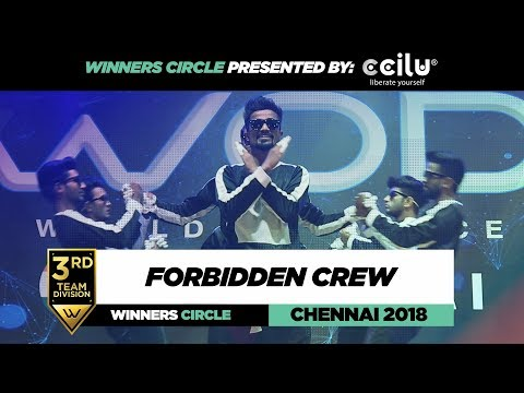 Forbidden Crew | 3rd Place Team Div. | Winners Circle | World of Dance Chennai 2018 | #WODCHENNAI18