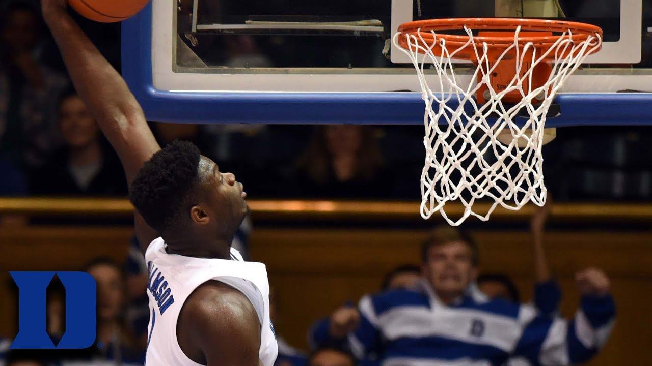 Every Zion Williamson Dunk In Duke Win vs. Eastern ...