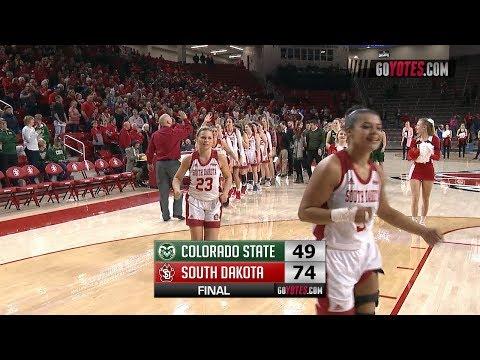 WBB Highlights: South Dakota 74, Colorado State 49 (WNIT)