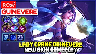 Lady Crane Guinevere, New Skin Gameplay [ Top Global Guinevere ] ʀᴏsé - Mobile Legends