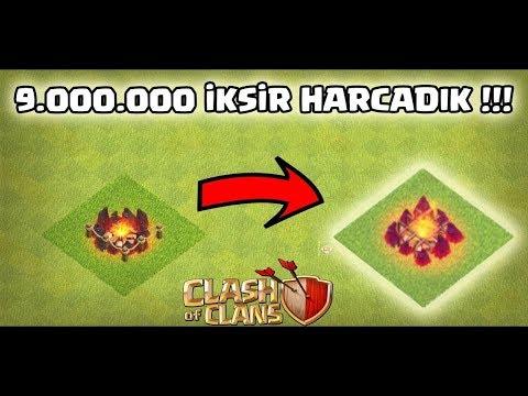 9.000.000 İKSİR HARCAMAK !!!! (İsraf !!) | Clash Of Clans