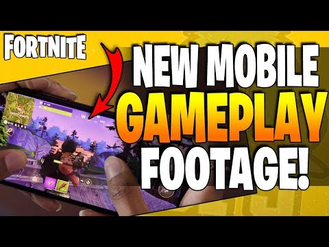 Fortnite Mobile Phone Gameplay! New Trailer, New Info! Play Now!!