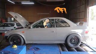 Homebuilt Subaru's quest for 600whp! Raining oil!