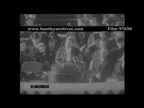 JFK Speech in Berlin.  Archive film 97650