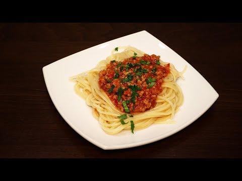 рецепт пасты для спагетти с фаршем пошагово