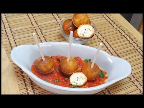 Cheese Pops or Cheese Balls or Cheese Puffs Video Recipe by Bhavna - 10 minute Party Recipe