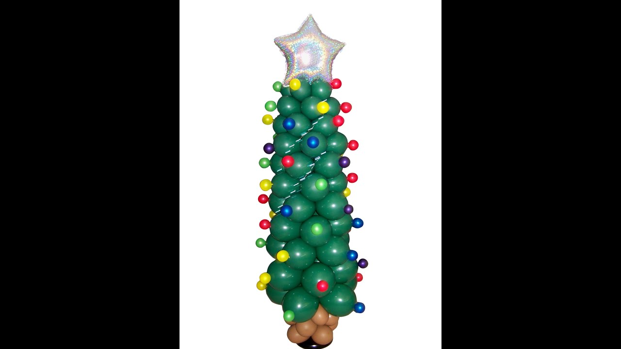 Christmas Tree Balloon.How To Make A Balloon Christmas Tree Diy Balloon Project