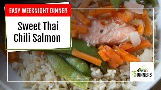 3-Ingredient Slow Cooker Sweet Thai Chili Salmon ~ Easy Weeknight Dinner