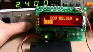 PEX01作品集:液晶表示器でバーグラフ表示する電圧計