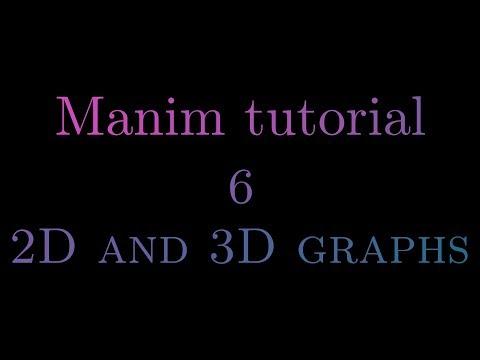 Manim Tutorial    6 - 2D And 3D Graphs
