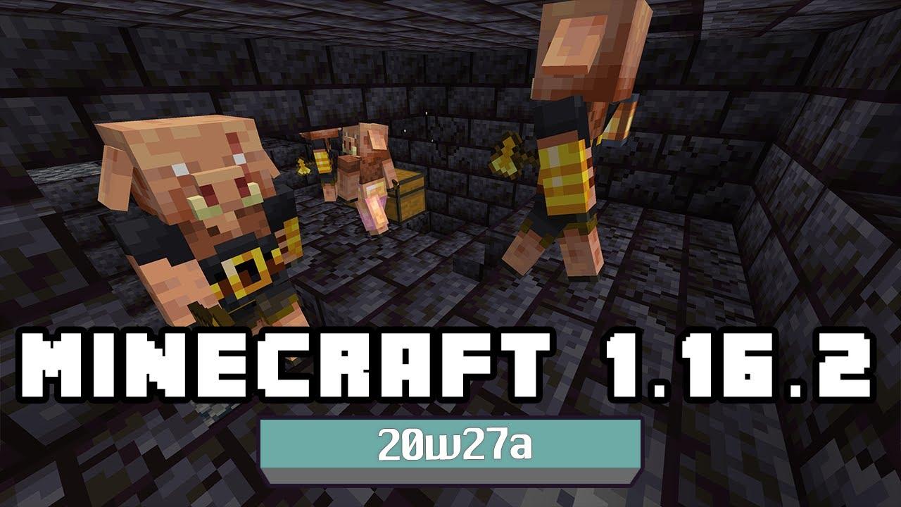 Minecraft 1.16.2 – Snapshot 20w27a – Piglin Brute, cambios menores y bugs resueltos