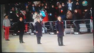 Chinese Anthem at the 2018 Winter Olympics Closing Ceremony