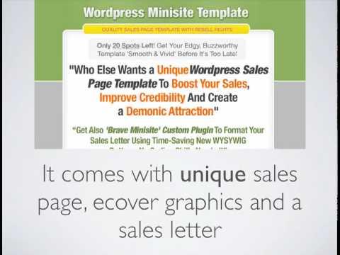 Get wordpress minisite template smooth vivid youtube get wordpress minisite template smooth vivid spiritdancerdesigns Gallery
