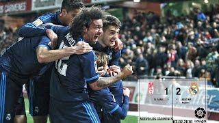 Granada 1-2 Real Madrid (La Liga 2015/16, matchday 23)