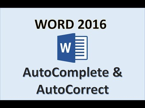 Word 2016 - AutoComplete and AutoCorrect - How To Use Auto Comple & Correct in Microsoft Office 365