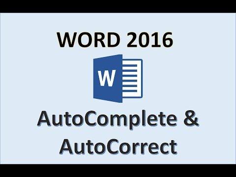 Word 2016 - AutoCorrect and AutoComplete - How To Auto Correct