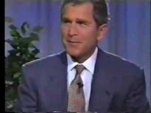 Bush Giving the Finger