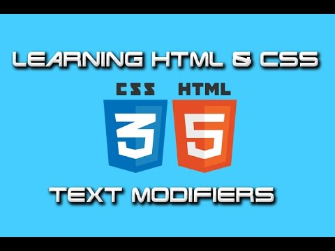Learning HTML/CSS: #2 - Text Modifiers