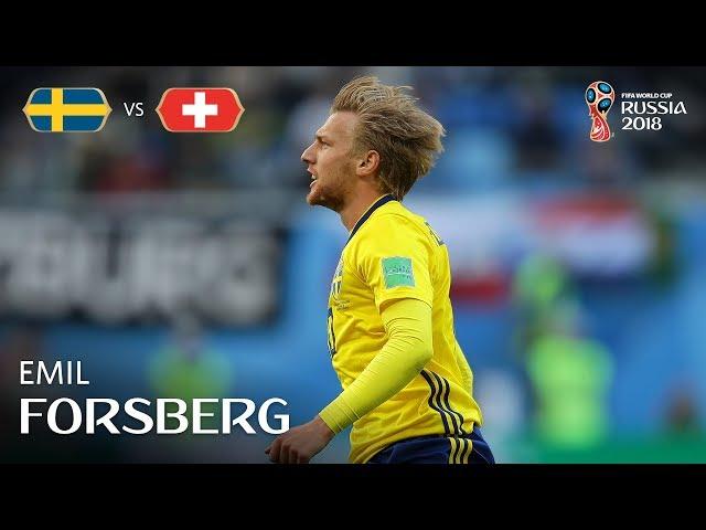 Emil FORSBERG Goal – Sweden v Switzerland – MATCH 55