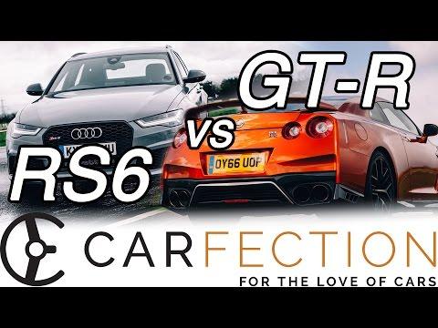 DRAG RACE: Audi RS6 v Nissan GT-R - Carfection