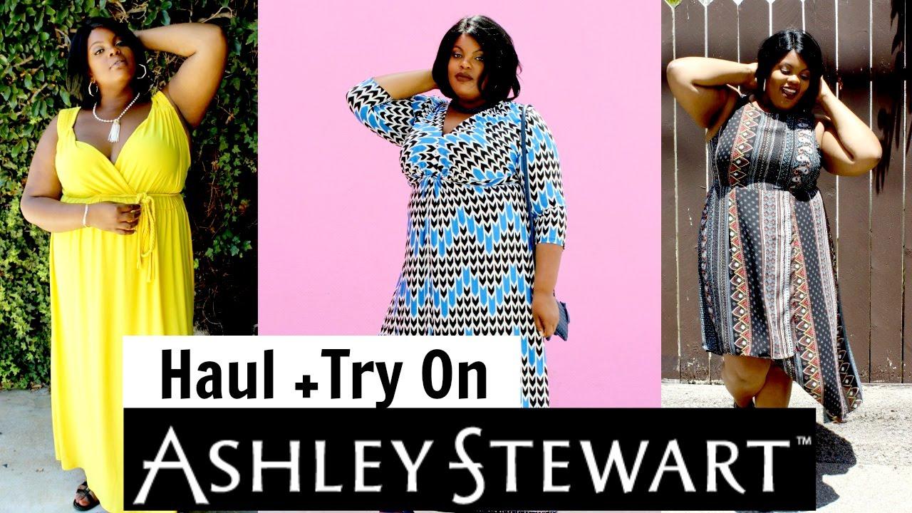 Ashley Stewart Haul + Try On | Plus Size Fashion - YouTube