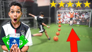 Beat the ROBOT Keeper, I'll Buy You Anything - Football Challenge