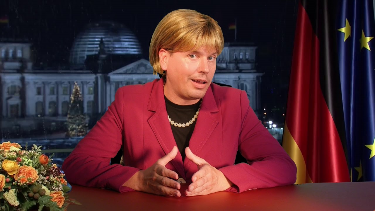 Mutti Merkel grüßt die DISTEL