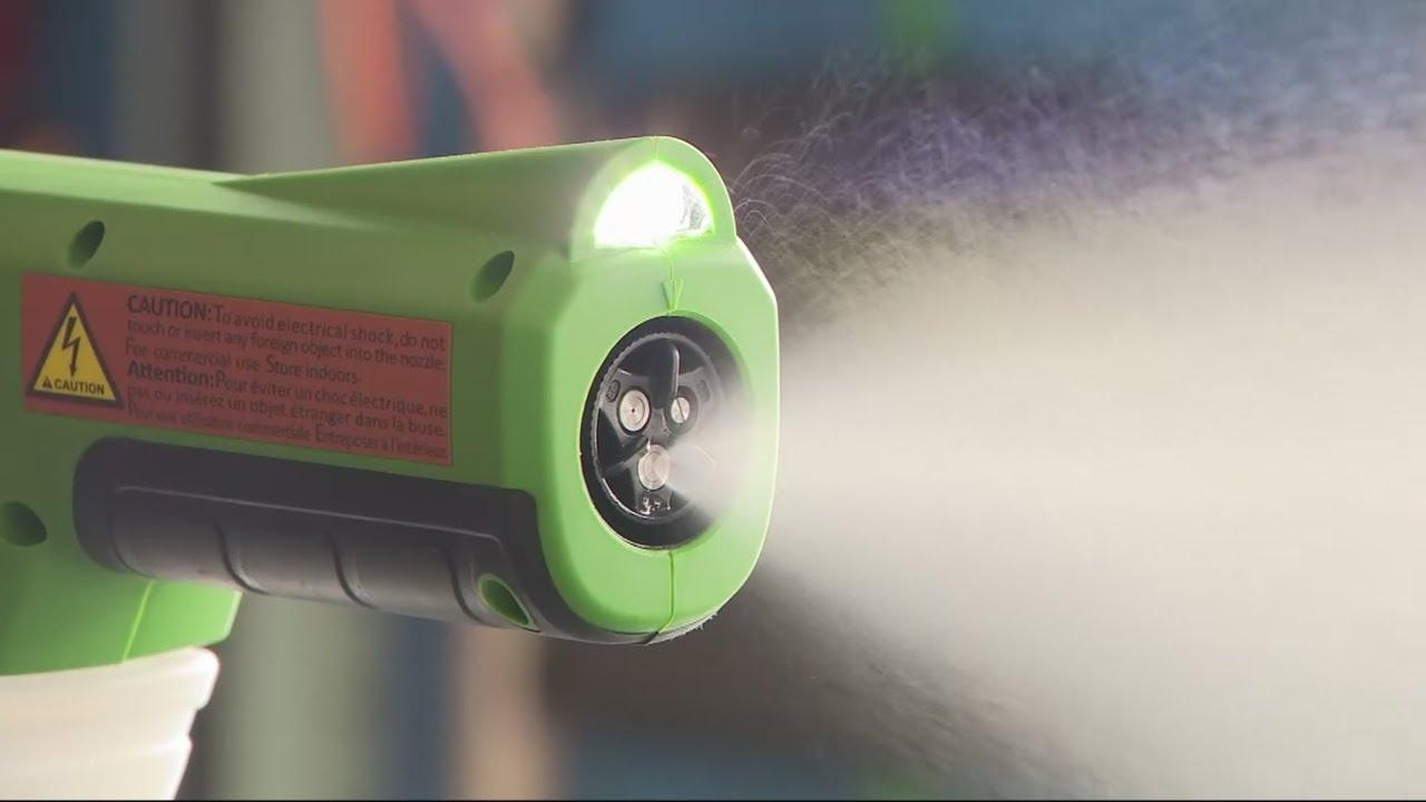 Electrostatic Sprayers In High Demand To Clean Coronavirus - YouTube