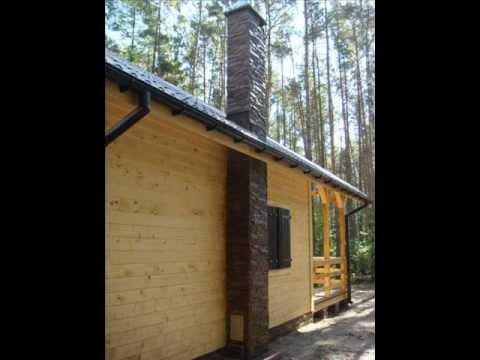 Dom szkieletowy z drewna JANAS , domy z drewna , domy szkieletowe , letniskowe - YouTube