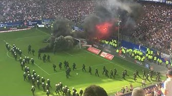 Hamburger SV - Borussia Mönchengladbach | Pyro-Krawalle & Spielunterbrechung | 12.05.2018