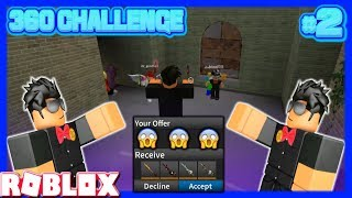 EXTREMELY INSANE TRICKSHOTS AND MASSIVE DONATIONS! (ROBLOX ASSASSIN 360 CHALLENGE #2)
