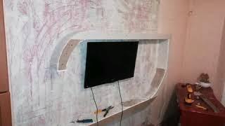 Полки под телевизор на стену