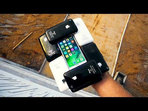 Thumbnail: Can 10 iPhone 3GS Protect an iPhone 7 from 75 FT Drop Test? IPHONECEPTION!!!