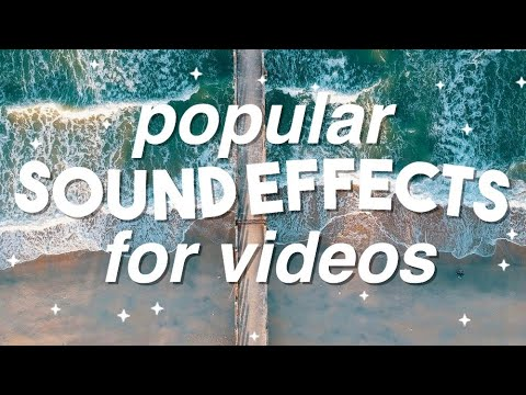 Popular Sound Effects for Videos   iEditingX