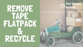 All those Christmas deliveries flooding through your door? Don't forget to remove excess tape, fl...