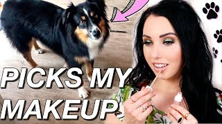 MY DOG PICKS MY MAKEUP 🐕 So cute!