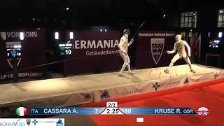 2018 135 P1 01 M F Individual Bonn GER WC podium CASSARA ITA vs KRUSE GBR